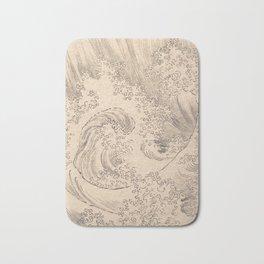 Wave by Katsushika Hokusai 1760–1849, Japanese Bath Mat