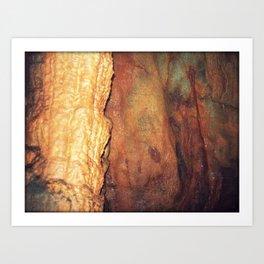 Textures 4 - Limestone Caverns Art Print