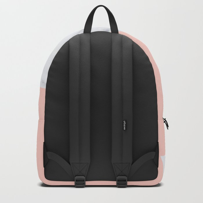 Blush marble triangle Backpack