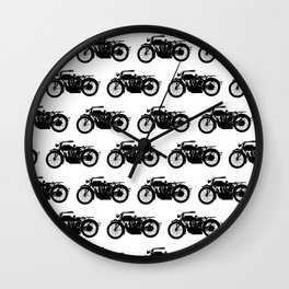 Antique Motorcycles Wall Clock