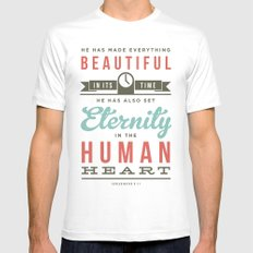 He has made everything beautiful White Mens Fitted Tee MEDIUM