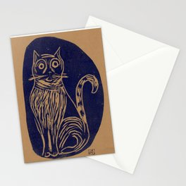 scared cat Stationery Cards