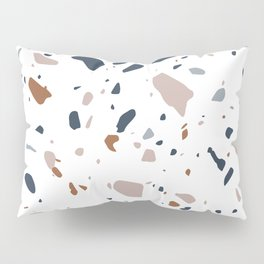 Navy, Mustard, Duty Pink Terrazzo Pattern Pillow Sham