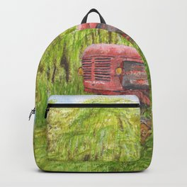Old Massey Harris 55 tractor in rural France Backpack