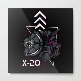 Gundam Cyberpunk 2077 Dark Metal Print
