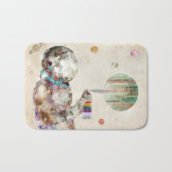 space graffiti Bath Mat