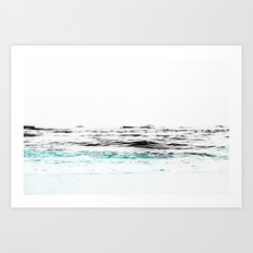 Minimalist ocean waves Art Print