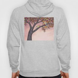 cedar waxwings on the stained glass tree Hoody