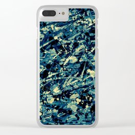 Split splat Clear iPhone Case