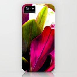 Ti Leaf Bouquet iPhone Case