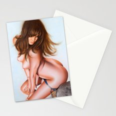 Nude girl 1 color Stationery Cards