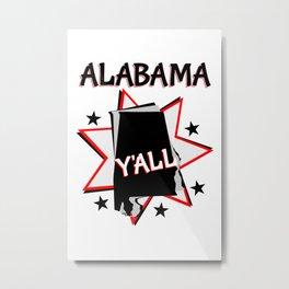Alabama State Pride T-shirt Metal Print
