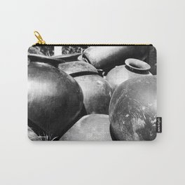 Black clay Carry-All Pouch