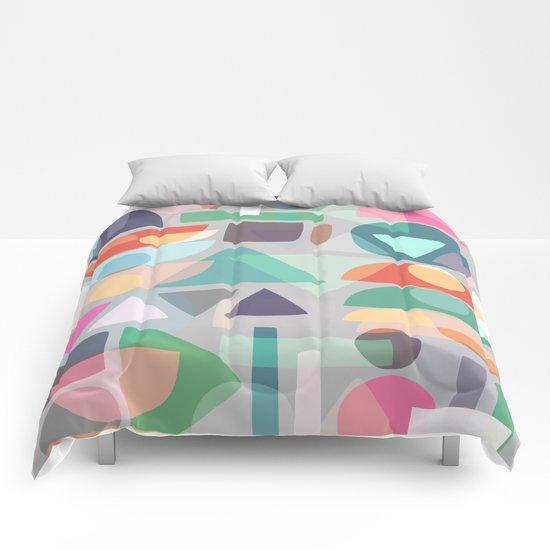 Pastel Geometry 2 Comforters