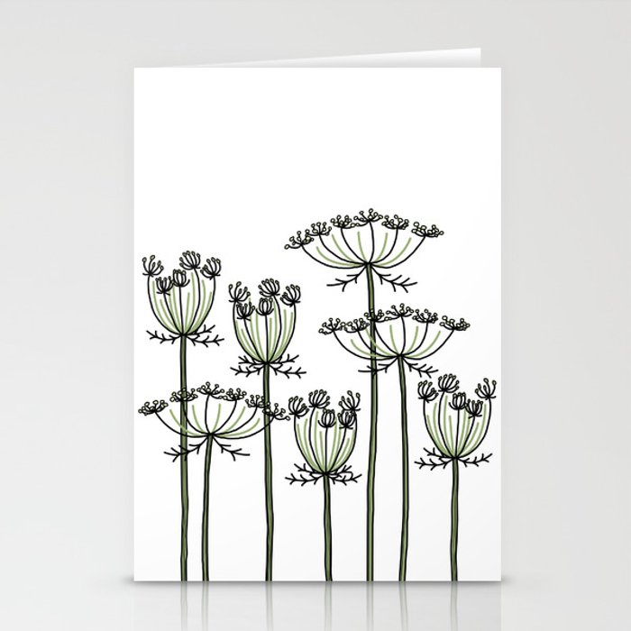wild carrots Stationery Cards