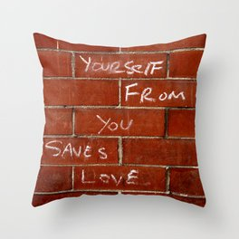 Love Saves Throw Pillow