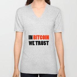 In Bitcoin we trust crypto gift Unisex V-Neck