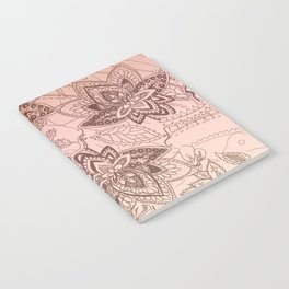 Henna Lotus Notebook