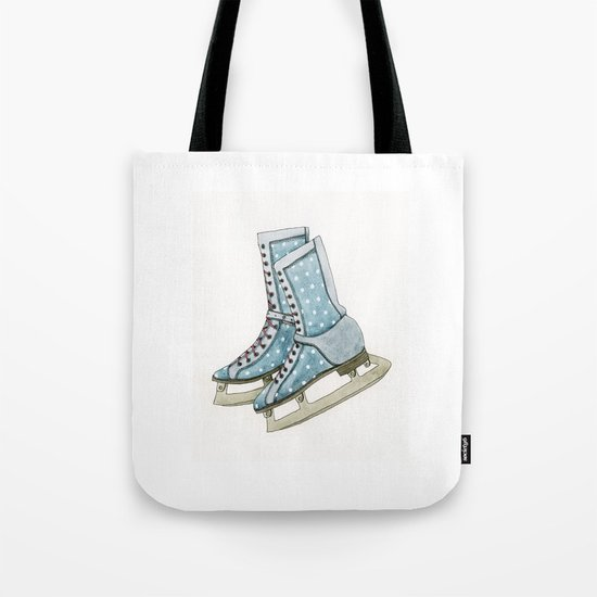 Polka dot ice skates Tote Bag