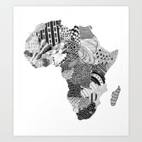 south africa Art Prints featuring Africa by Kacenka