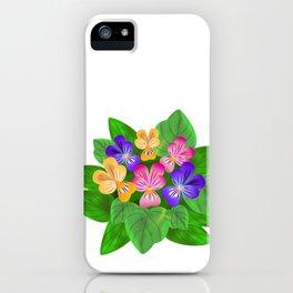 Violet Bouquet, flower, flowers iPhone Case