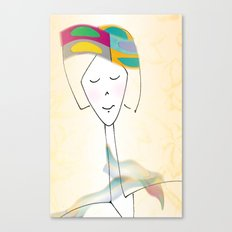 She was known for her interesting hats. Canvas Print