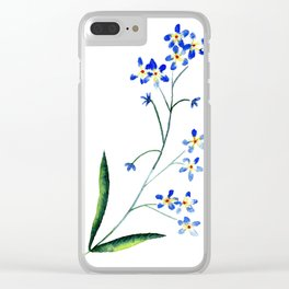 forget me knot Clear iPhone Case