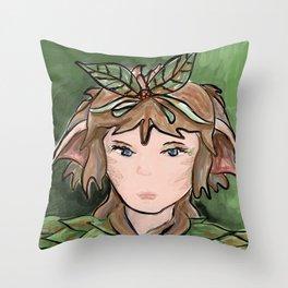 Nature Girl Throw Pillow