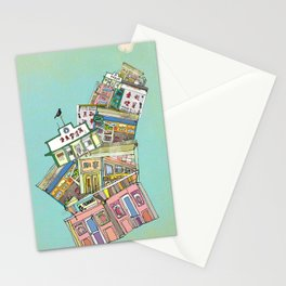 old houses Stationery Cards
