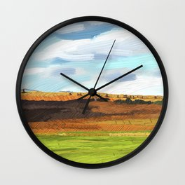 Farming Plain Wall Clock