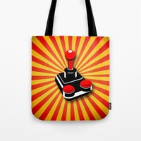 gaming Tote Bags featuring Retro Gaming by MaNia Creations