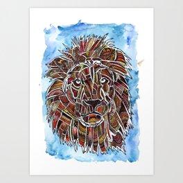 Lion in Color Art Print