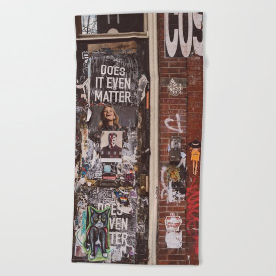 East Village Door Beach Towel