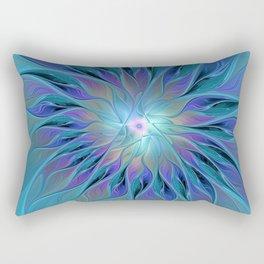 Decorative Flower Fractal Rectangular Pillow