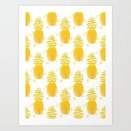 Golden Pineapples Art Print