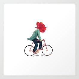 Mr. Rose Pedals Pun Art Print