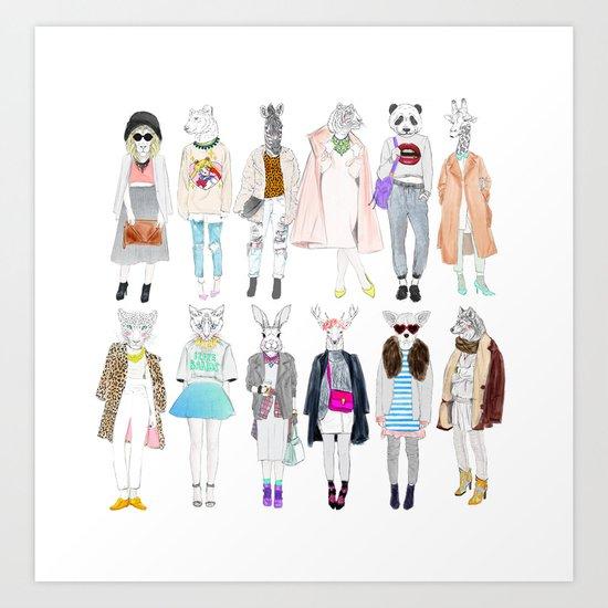 Trendy Mob Art Print