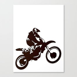 Motor X Silhouette Canvas Print