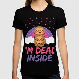 Sloth I'm Dead Inside Depression Kills Raise Awareness T-shirt Design Help Heal Comfort Talk Chat T-shirt