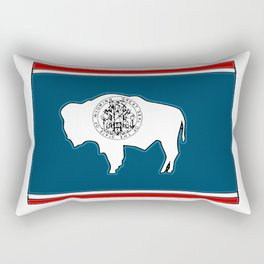 Wyoming Map with State Flag Rectangular Pillow
