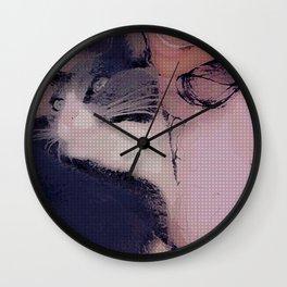 Crazy cat lady/Mouny Wall Clock