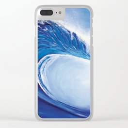 Ocean Wave Painting Clear iPhone Case