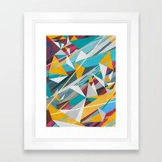 Geometric Boom Framed Art Print
