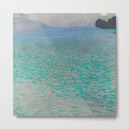"Gustav Klimt ""Lake Attersee"" Metal Print"