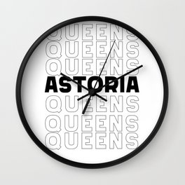 Astoria Queens New York graphic for Astoria Fans Wall Clock