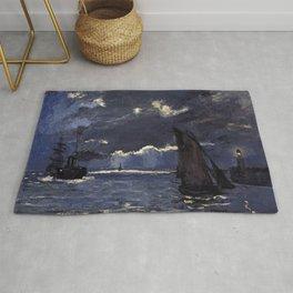 Claude Monet - A Seascape, Shipping by Moonlight.jpg Rug