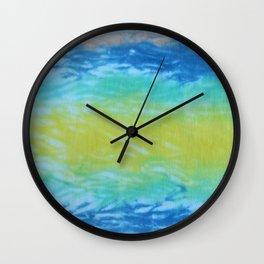 Wave Tie Dye January Ocean Wall Clock