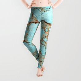 Rusty Cracked Turquoise Leggings
