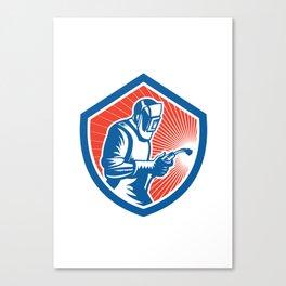 Welder Fabricator Welding Torch Side Shield Retro  Canvas Print