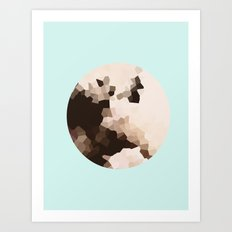 Polygons of a photograph Art Print